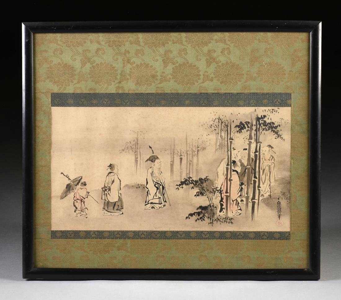 Water Ink Painting Bamboo Artist Signed
