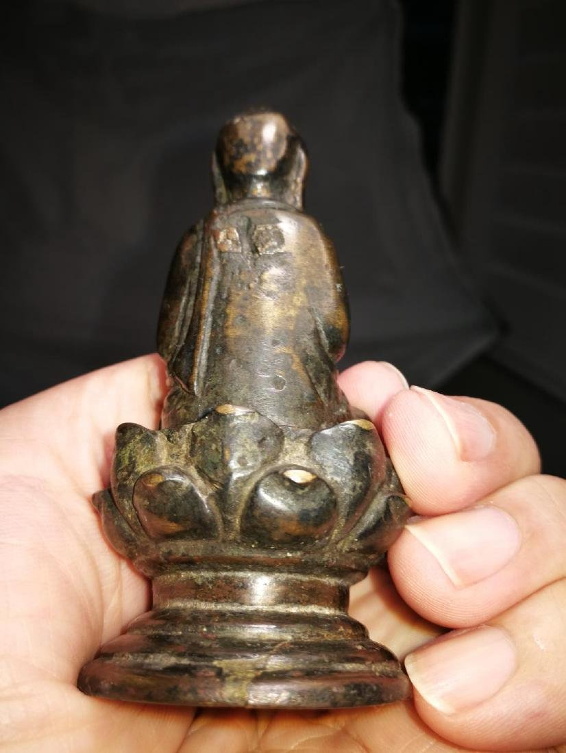 Antique Chinese Bronze Buddha - 5