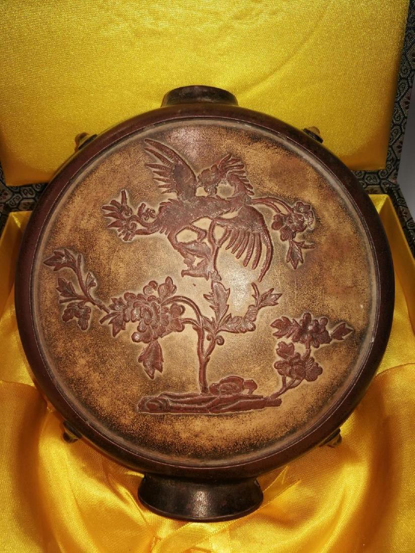 Antique Chinese Yixing Zisha Teapot - 5