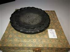 Antique Chinese Sunflower Inkstone