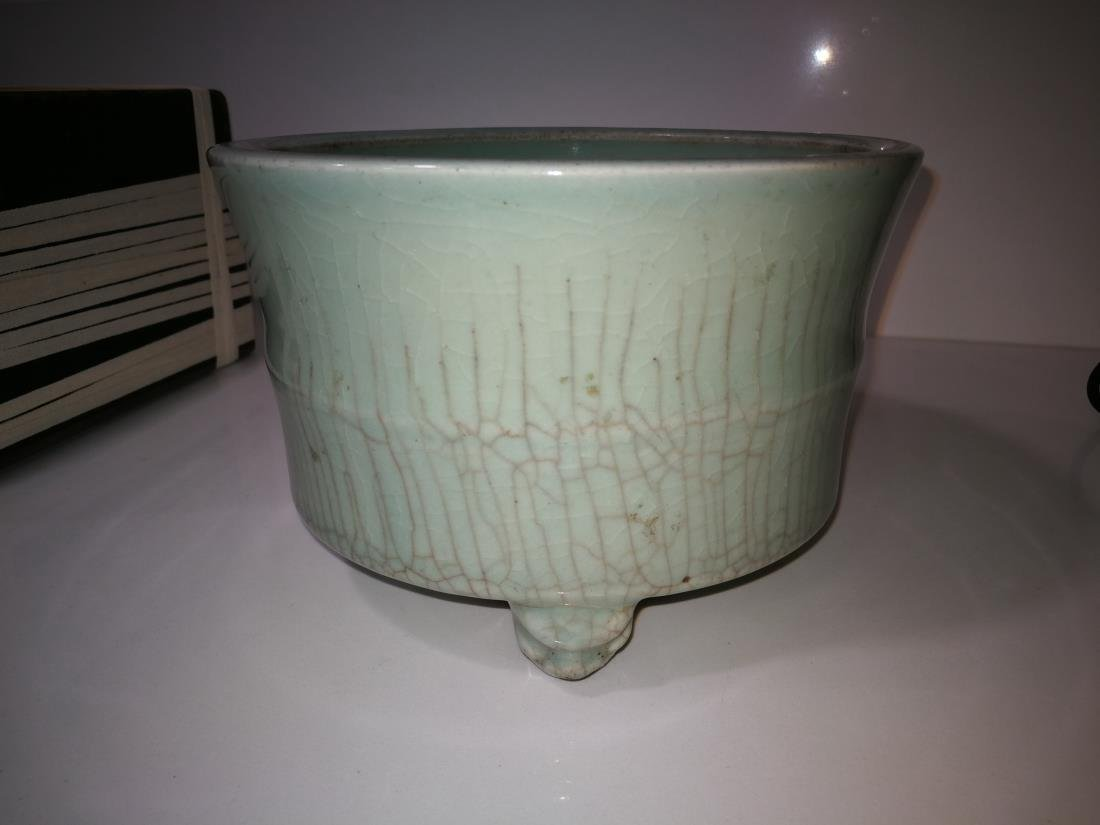 Antique Chinese Longquan Yao Porcelain Incense Burner - 2