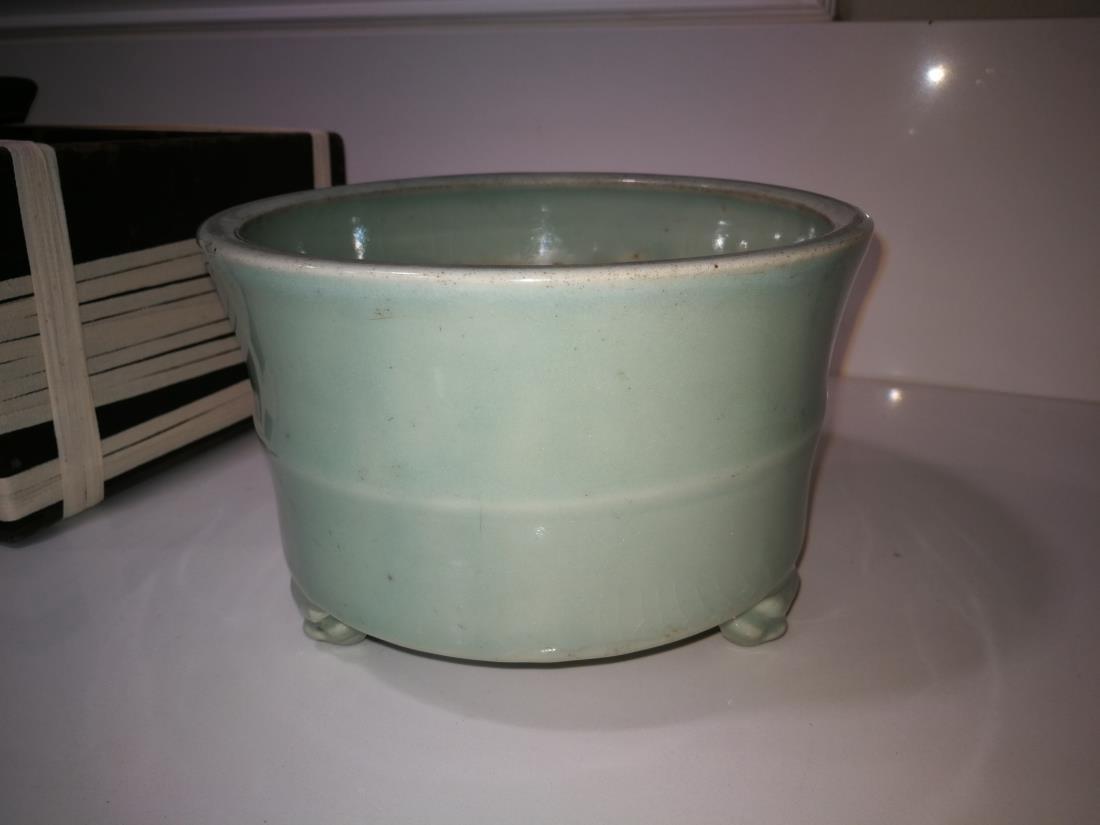 Antique Chinese Longquan Yao Porcelain Incense Burner - 4