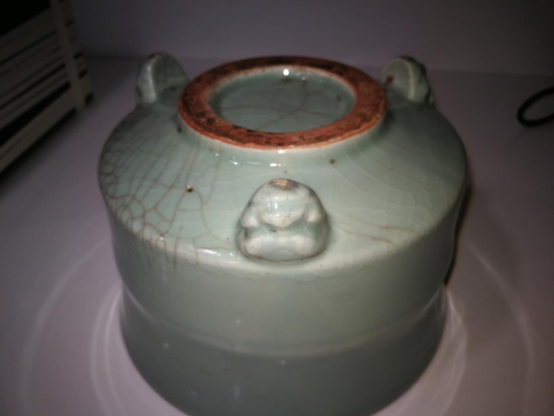 Antique Chinese Longquan Yao Porcelain Incense Burner - 7