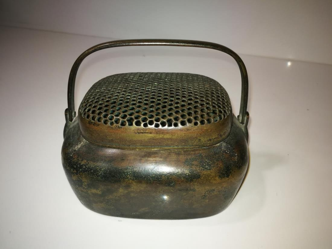 Antique Chinese Bronze Hand Warmer