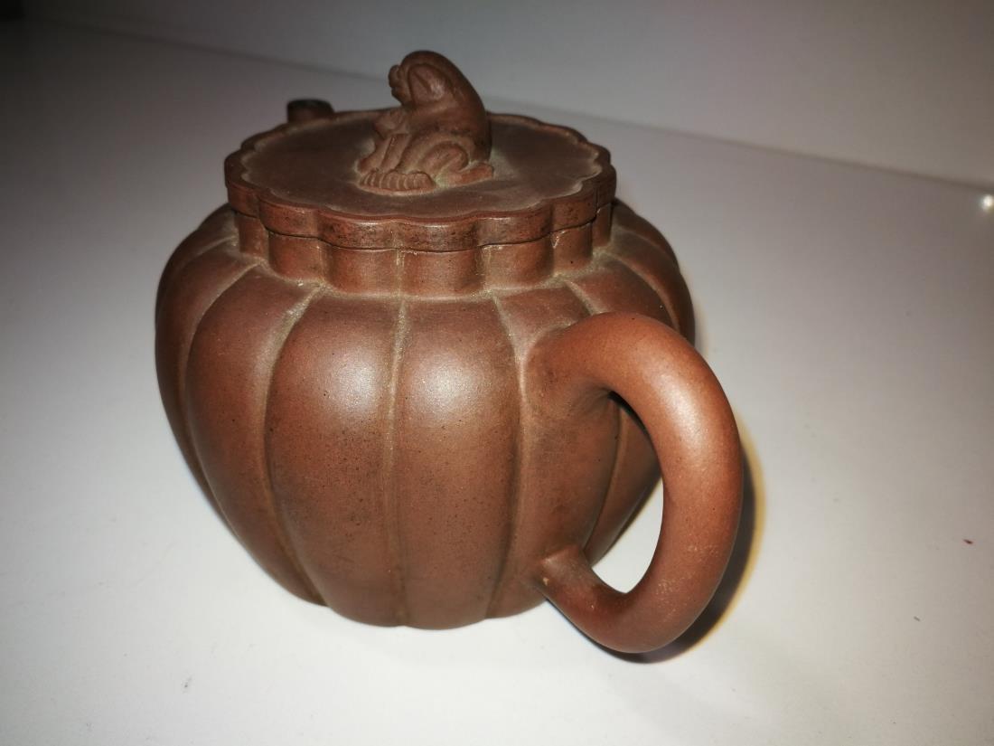 Antique Chinese Yixing Zisha Teapot Gong Ju Mark - 3