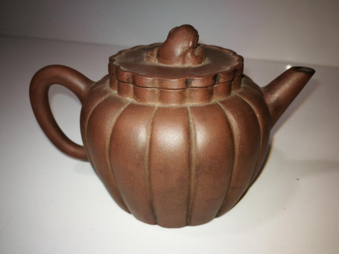 Antique Chinese Yixing Zisha Teapot Gong Ju Mark - 5