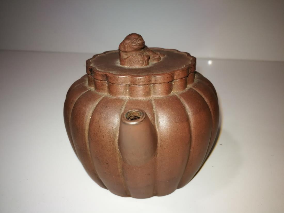 Antique Chinese Yixing Zisha Teapot Gong Ju Mark - 6
