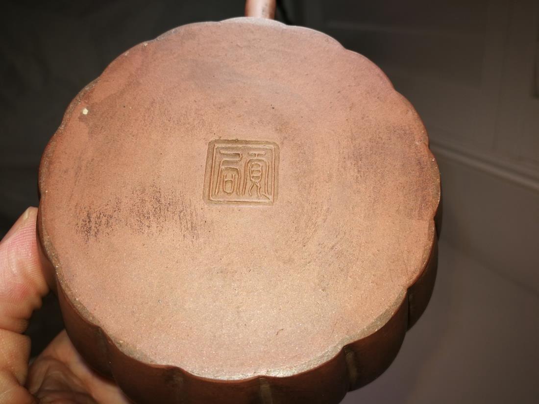 Antique Chinese Yixing Zisha Teapot Gong Ju Mark - 8