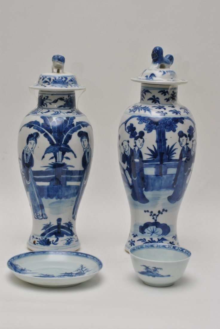 CHINESE BLUE AND WHITE  PORCELAIN LOTS