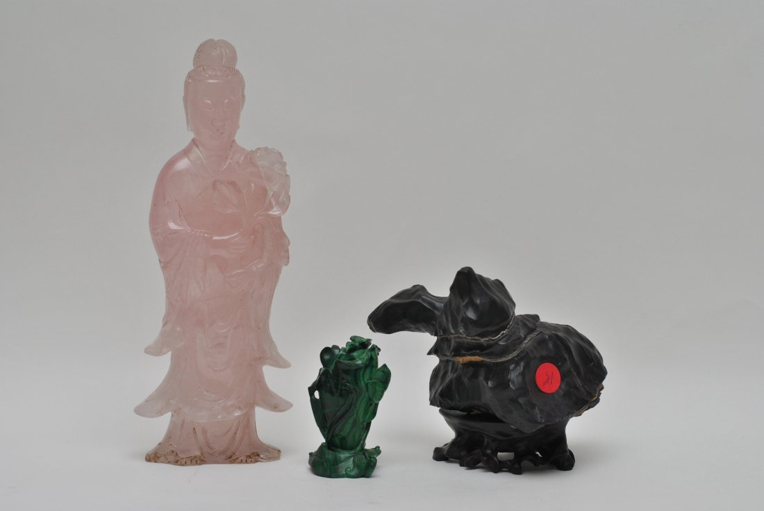 ASIAN STONE AND CARVED CRYSTAL
