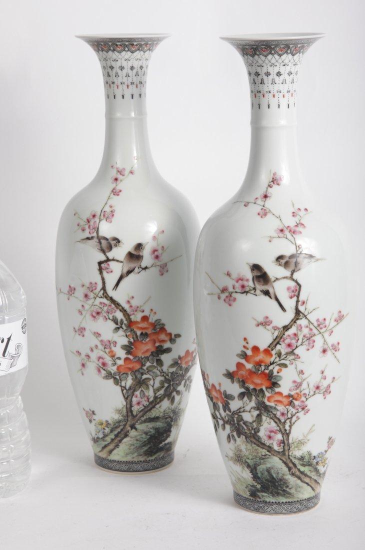 pair Chinese Porcelain vase