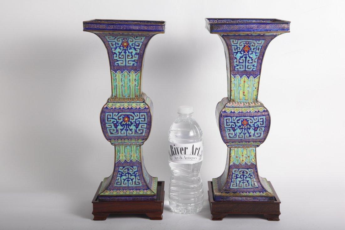 Antiques chinese Enamel vase