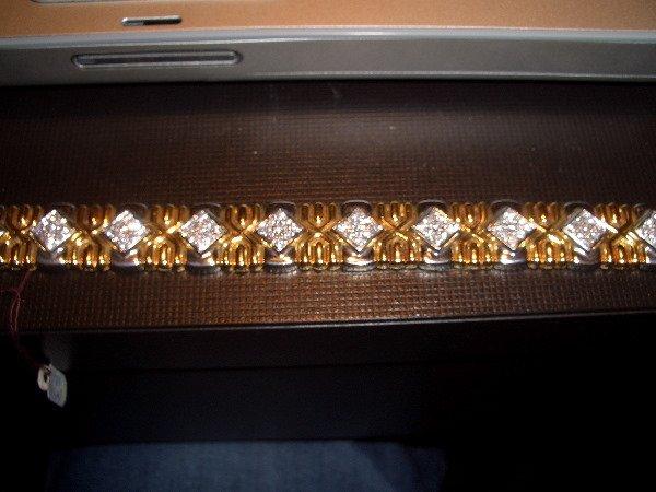 1: Deco Style 18k Diamond/Gold Bracelet 3.41 tcw  F col
