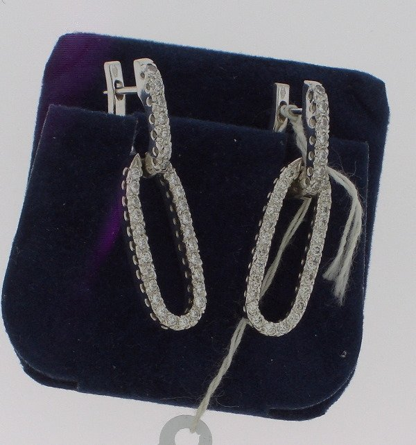 8: Chain Link Diamond/Gold Earrings 1.10tcw ( G color V