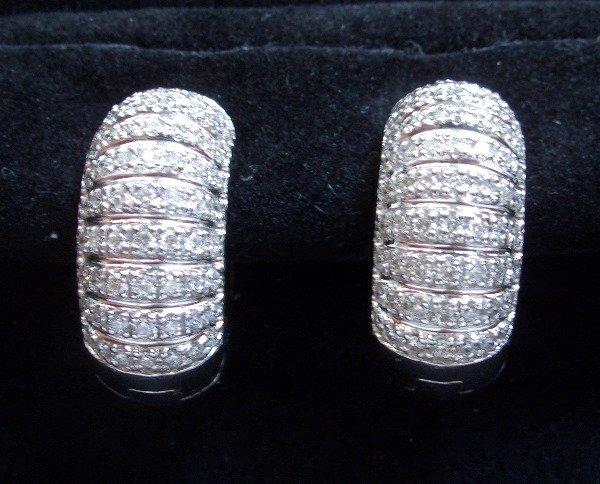 9: Hoop Diamond/Gold Earrings 1.40tcw (G color VS2 clar