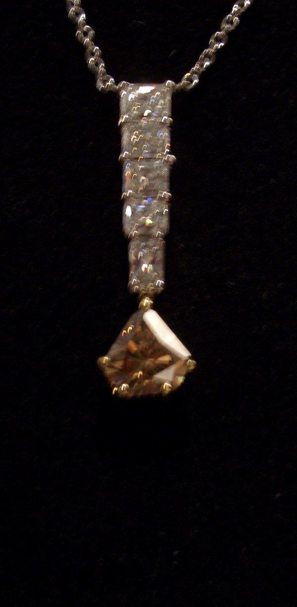 13: Diamond Necklace 1.47tcw (F color VVS-VS clarity)