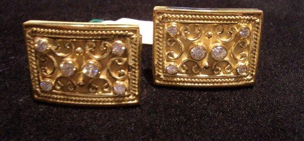 17: Diamond and Gold Cufflinks 18Karat .60tcw G color V