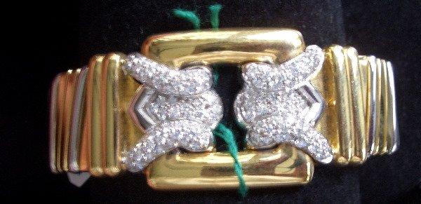 19: Gold and Diamond cuff 2.21tcw G color VS