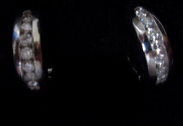 21: Diamond huggie earrings 0.71tcw G color VS clarity.