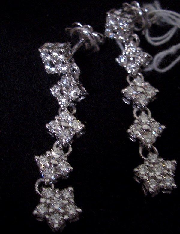 22: Diamond star earrings  1.63tcw G color VS clarity