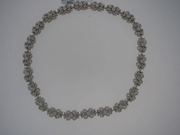 24: Diamond and 18K white gold Necklace 8.47tcw G color