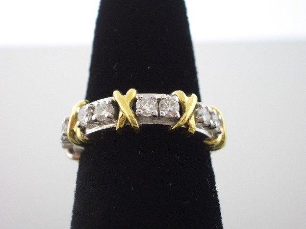 105: Schlumberger Style Diamond Ring