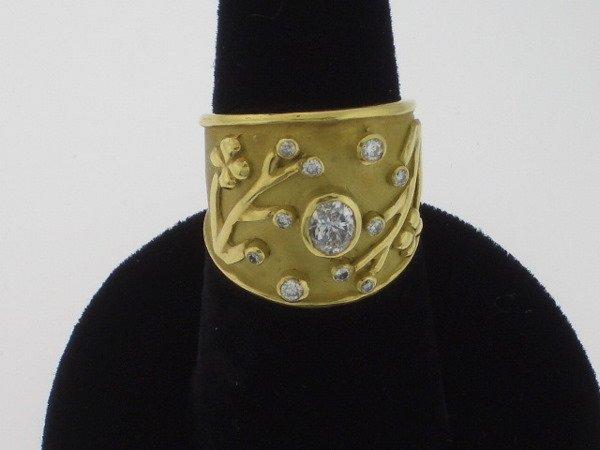 108: Elizabeth Gage style Diamond and Gold  ring