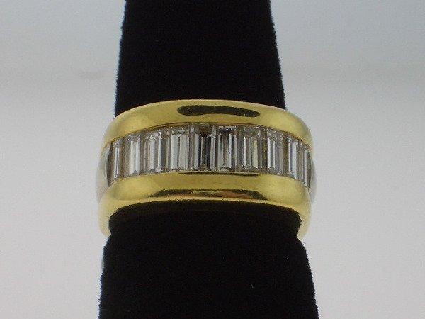 112: Diamond and Yellow/White Gold ring