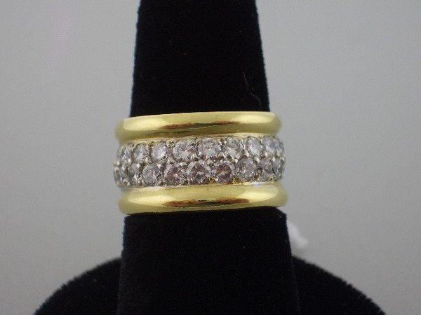 115: Diamond and Gold Ring