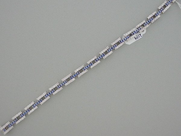 118: Diamond, Sapphire, 18Karat white gold bracelet