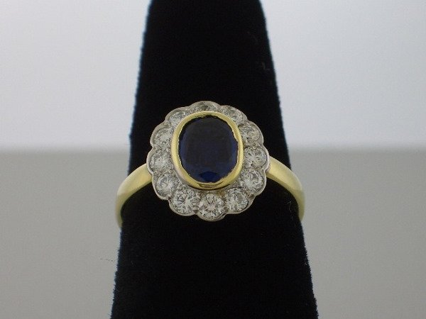 122: Sapphire and Diamond Ring