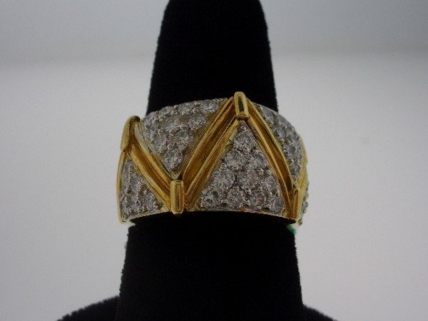 212: Diamond and Gold ring