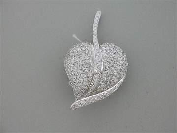 217: diamond leaf pin 4.55, G color, VS clarity