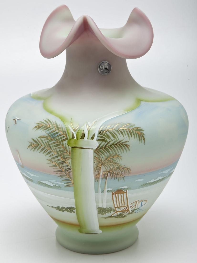 Fenton 95th Anniversary Lotus Mist Vase
