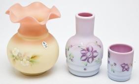 Fenton Glass Messenger Tumble Up & Vase