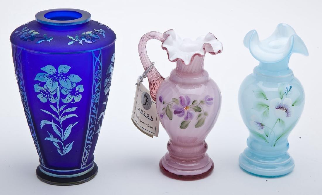 3 Pcs Fenton Glass incl. Dusty Rose