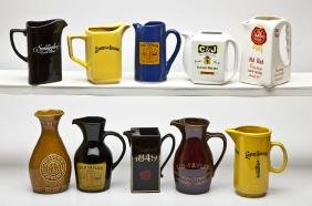 10 Whiskey Advertising Pitchers incl. Fitzgerald's