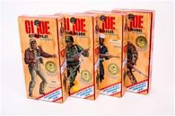 4 G.I. Joe Ltd Ed WWII Black Figures NIB