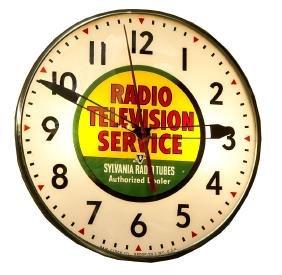 1950 Sylvania Radio Tubes Dealer Lighted Clock