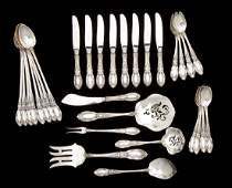 30 Pcs Towle King Richard Sterling Flatware