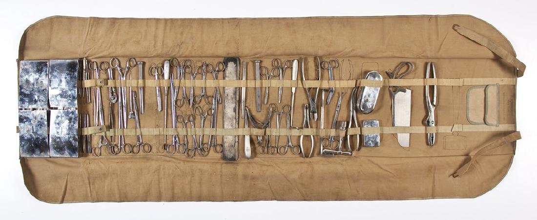 WWI General Surgery Field Kit in Canvas Roll