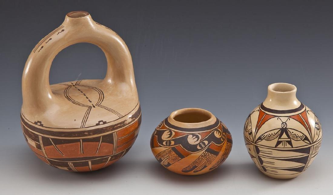 3 Pcs of Nempeyo Hopi Pottery