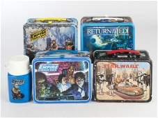 4 Vintage Star Wars Metal Lunch Boxes