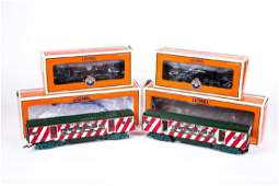 4 Lionel Rolling Stock Cars Incl Candy Cane