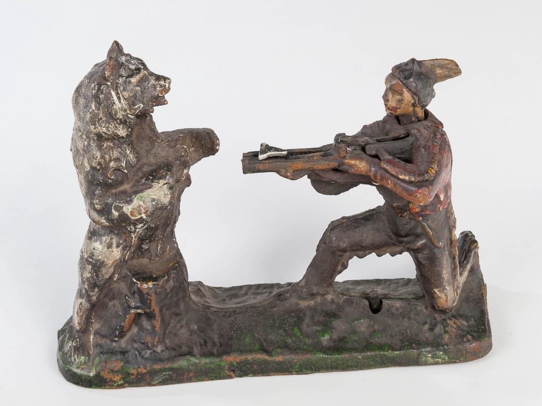C 1900 J&E Stevens Co. Native American & Bear Bank