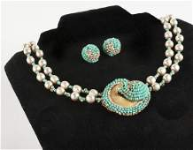 Miriam Haskell Necklace and Earrings