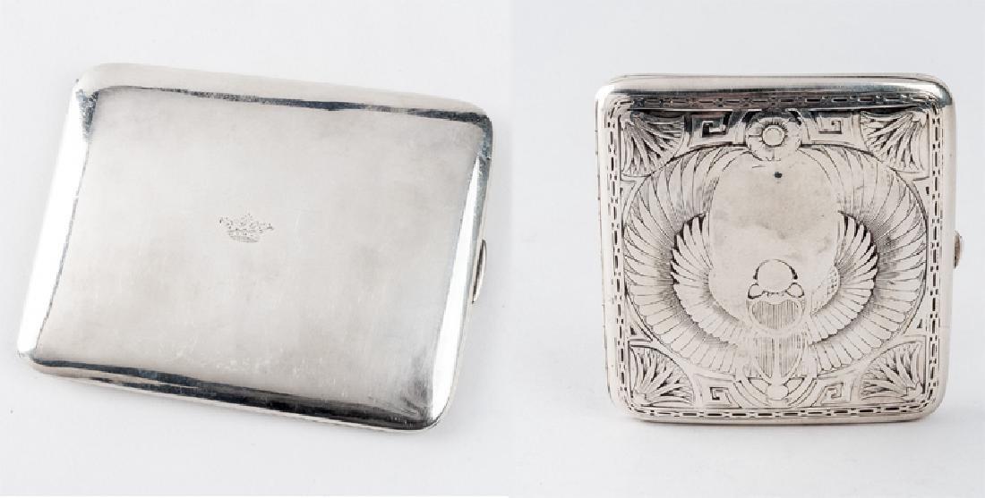 2 Sterling Silver Cigarette Cases