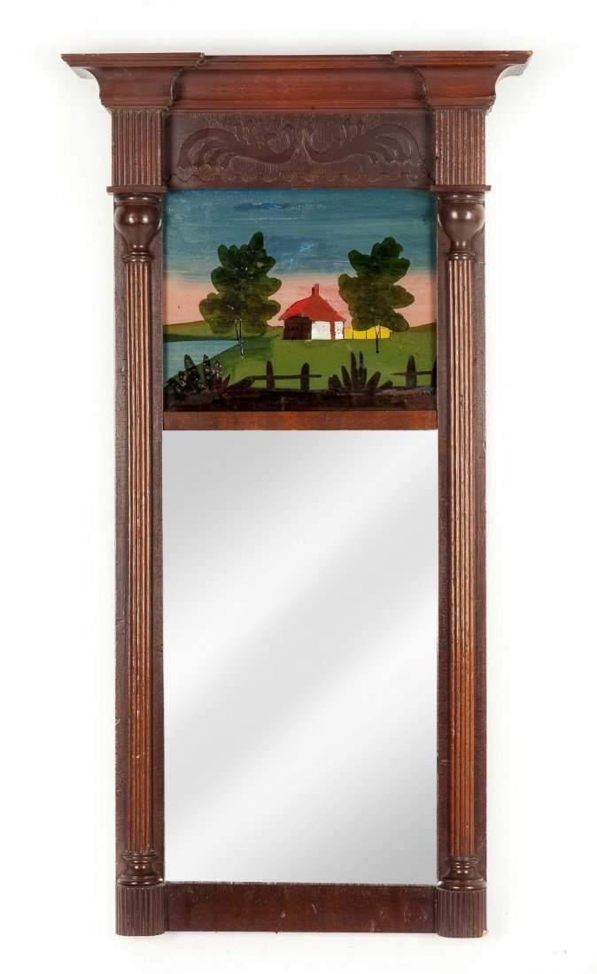 Federal Reverse Painted Mirror