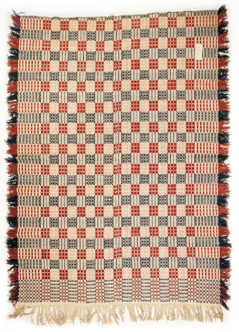 Unsigned Jacquard Coverlet with Blocks