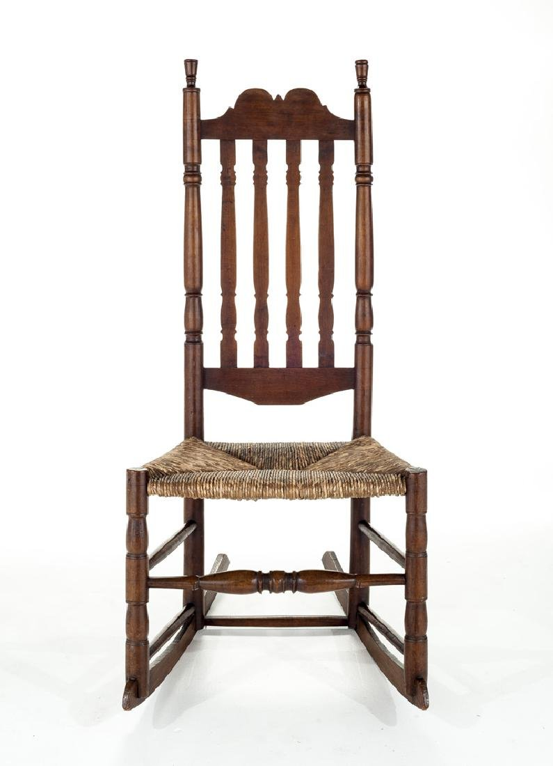 Colonial Revival Bannister Back Rocking Chair